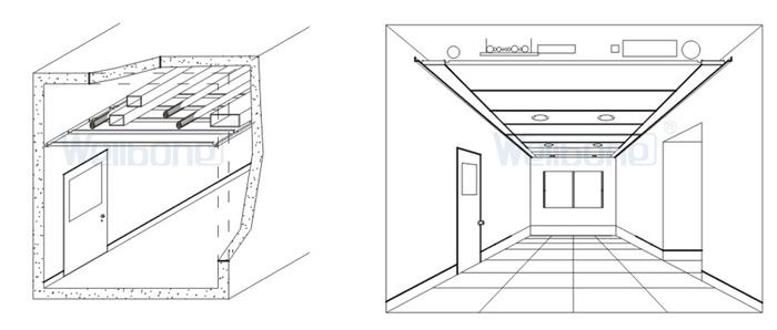 室内走廊手绘线稿